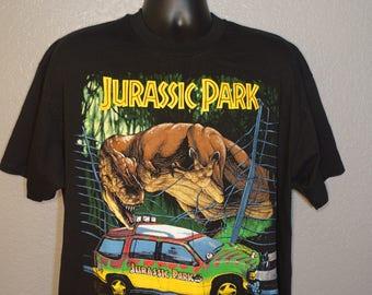 1993 Jurassic Park - Jeep T. Rex Vintage T-Shirt