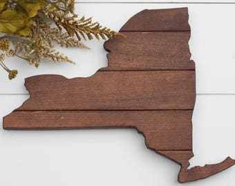 NY State, Wall Decor, Hand Cut Wooden Decor, Wall Art, Home Decor, Rustic Sign, State Sign