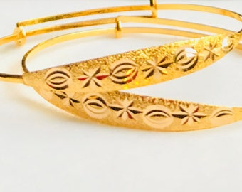 1 pair lot (2 pieces) Baby's bangle 22k 916 gold purity