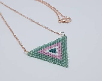 Triangle necklace Green
