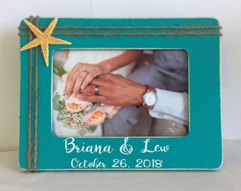 Engagement frame, wedding frame, beach wedding, personalized frame, personalized gift, personalized engagement, fiance frame