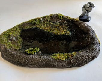 Wargaming terrain: Pond for Warhammer, Warhammer 40K, Dungeons & Dragons, Age of Sigmar, and other Miniature War-games!