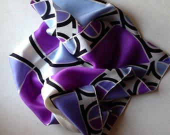 foulard LANCOME en soie vintage 1970