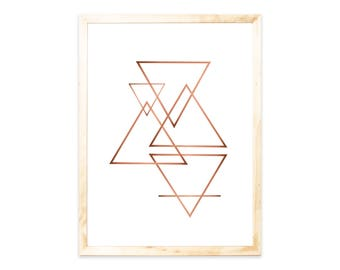 Poster, rose gold replica, geometric, forms