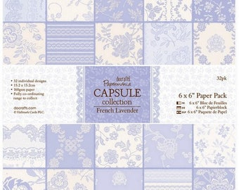 32 paper 15 x 15 cm PAPERMANIA CAPSULE french LAVENDER