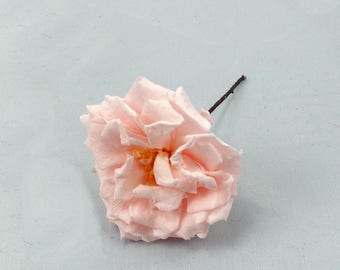 Preserved wild rose on hair clips for bridal or bridesmaid hairstyle, natural preserved flower