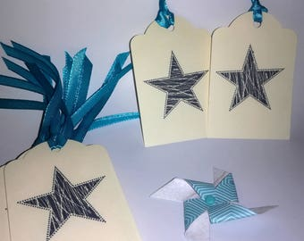 (Set of 10) - Star gift tag