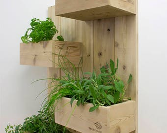 Name: The four square (vertical garden, plant stand, vertical, plant, planter, cedar wall plant, herb garden, vertical plant)