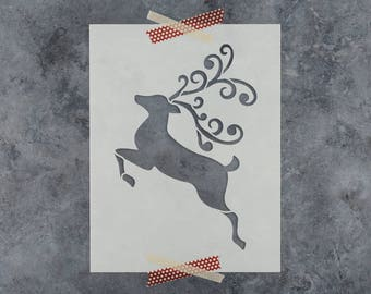 Reindeer Stencil - Reusable DIY Craft Stencils of a Reindeer