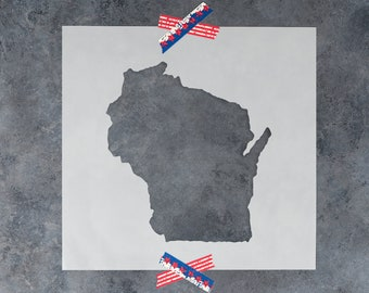 Wisconsin State Stencil - Hand Drawn Reusable Mylar Stencil Template
