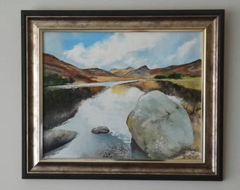 Blea Tarn, Oil on canvas