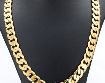 Necklace Mens Chain Womens Chain Gold Filled Jewelry Party Daily Wear