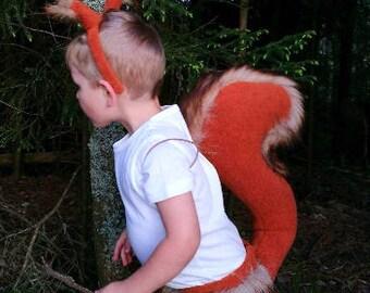 Red Squirrel boy costume/ Kids red squirrel Costume/red squirrel dress up/ handmade costume