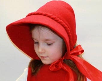 Little red riding hood hat/Red riding hood Costume/red riding hood dress up/ handmade costume