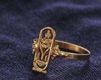 Egyptian Cartouche Classy Golden Cartouche Ring
