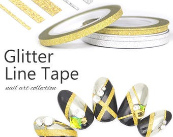 NEW GLITTER LINETAPE gold/silver made in japan