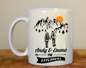 Personalised hiking mug, Take a Hike