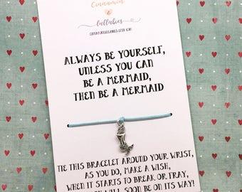 Mermaid gift,be a mermaid,mermaid bracelet, mermaid charm bracelet,funny mermaid gift,mermaid jewellery,motivational gift