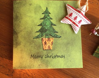Christmas card- tree