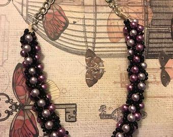 Purple Pearl Bead Necklace