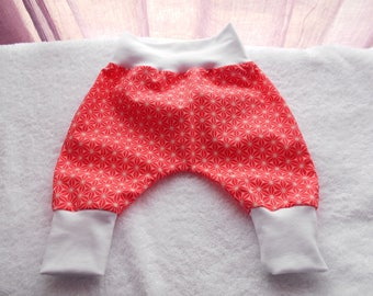 Strawberry baby cotton harem pants with white belt 0/1 month