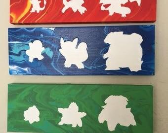 Pokemon Evolution Silhouette Painting