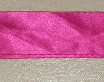 pink satin ribbon 5 cm width