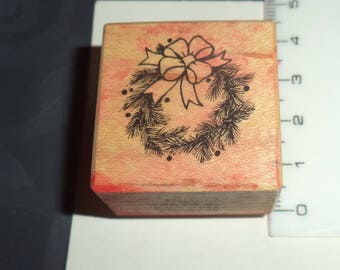stamp design wood Crown with branches 4 cm with silicone
