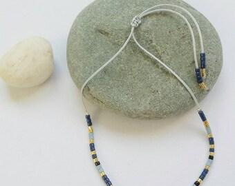Cord bracelet miuyki and swarowski beads
