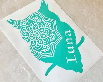 Owl Boho Decal Etsy - Owl custom vinyl decals for car
