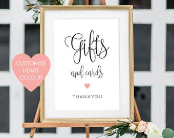 Printable Gifts Sign | Wedding Sign | Gifts and Cards | Wedding Printable | Wedding Gifts | PDF | Download | Elizabeth suite #049-09