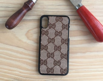 GG iphone x case , iphone x case  , hand made iphone x case , Iphone x cover , Monogram iphone x case