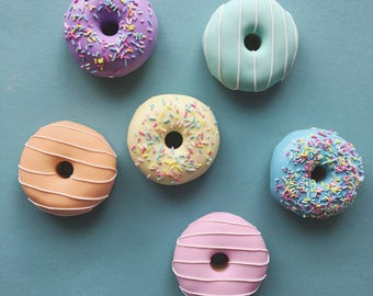 Set of 6 x 60g Pastel Doughnut Sewing Pattern Weights | Great Gift for Sewists of All Abilities | Ideal for Birthdays