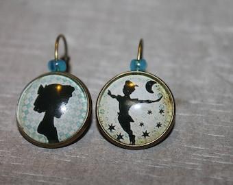 """""""Wendy and Peter"""" - earrings metal Stud Earrings"""
