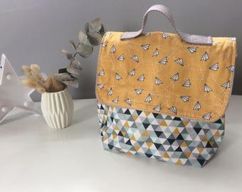 Custom lunch bag, bag food in waterproof laminated cotton to choose