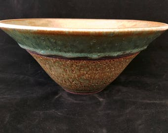 Flared and textured bowl