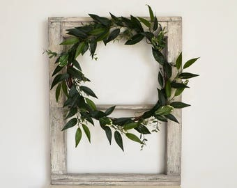 Modern, Greenery Wreath; Boho Wreath; Simple Greenery Wreath; Farmhouse Greenery Wreath; Minimalist Wreath; Wedding Wreath; Bohemian Style