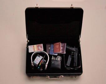 1/6 Scale Miniature Briefcase - Espionage kit