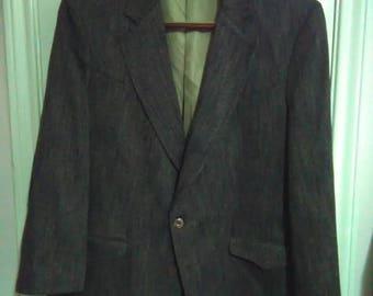 Vintage tregos westwear sport coat blazer suede elbow patchez USA 46R