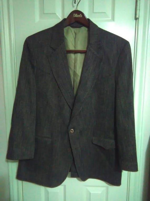 Vintage tregos westwear sport coat blazer suede elbow patchez USA 46R rx0RScqS
