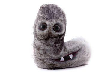 Alphabite L is a happy-go-lucky, fuzzy Custom Monster Plush Toy