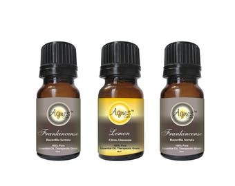 Set of 3: 2 Frankincense Essential Oils & 1 Lemon Essential Oil