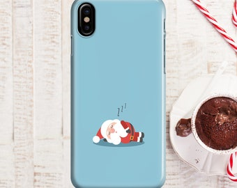 Sleeping Santa Phone case iPhone 8 Case iPhone 8 PLUS Case iPhone X Case iPhone 10 Case iPhone 7 Case iPhone 7 plus Case Gift