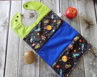 Starship Waterproof bib, Baby Accessory , Baby Shower gift, Oversize bib, No mess bib