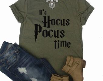 It's Hocus Pocus Time // Hocus Pocus Shirt // Halloween Shirt