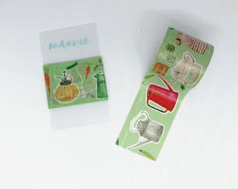 SAMPLE Washi tape Hoppy mini box watering