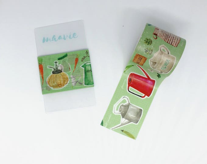 SAMPLE Washi tape Hoppy mini box watering