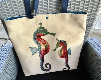 Tote bag large format beach or shopping