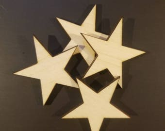Crafting Supplies - 50 Laser Cut Wood Stars