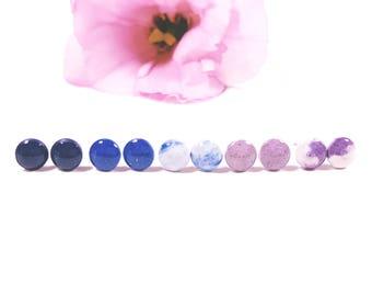 Concrete 8mm Stud Earrings in Various Colors